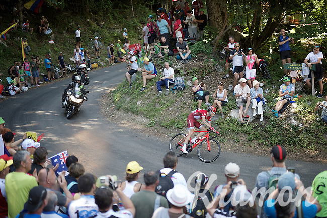 Ilnur Zakarin (RUS/Katusha) coming down the  Grand Colombier<br /> <br /> stage 15: Bourg-en-Bresse to Culoz (160km)<br /> 103rd Tour de France 2016