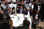 June 3, 2015: Post Position Draw. Ahmed Zayat, Michelle Kahen, Justin Zayat, Bob Baffert, and Victor Espinosa . Sue Kawczynski/ESW/CSM