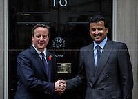 29.10.2014 - Emir of Qatar Meets David Cameron At 10 Downing Street