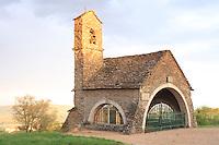 France, Saône-et-Loire (71), Bissy-la-Maconnaise, hameau de Charcuble, chapelle de Charcuble construite en 24 heures en 1941 par les chantiers de jeunesse, elle est dédiée à Saint-Philippe et Sainte Jeanne-d'Arc // France, Saône-et-Loire, Bissy-la-Maconnaise, hameau de Charcuble, Chapel of Charcuble built in 24 hours in 1941 by young people's construction projects, it is dedicated to Saint Philippe and Saint Jeanne-d'Arc