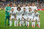 Real Madrid´s initial team during Santiago Bernabeu Trophy match at Santiago Bernabeu stadium in Madrid, Spain. August 18, 2015. (ALTERPHOTOS/Victor Blanco)