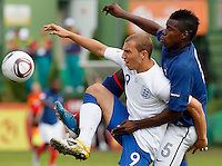 Soccer, UEFA U-17.France Vs. England.Hallam Hope, left and Kurt Zuoma.Indjija, 03.05.2011..foto: Srdjan Stevanovic