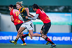 China vs South Africa during the Day 2 of the IRB Women's Sevens Qualifier 2014 at the Skek Kip Mei Stadium on September 13, 2014 in Hong Kong, China. Photo by Aitor Alcalde / Power Sport Images