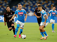 Stanislav Lobotka of Napoli  during the  italian serie a soccer match,  SSC Napoli - AC Milan       at  the San  Paolo   stadium in Naples  Italy , July 12, 2020