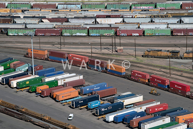 Denver Intermodal Facility, train yard. Aug 20, 2014. 812811