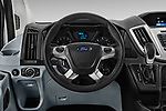 Car pictures of steering wheel view of a 2019 Ford Transit Wagon 350 XLT Wagon Med Roof Sliding Pass. 148 5 Door Passenger Van