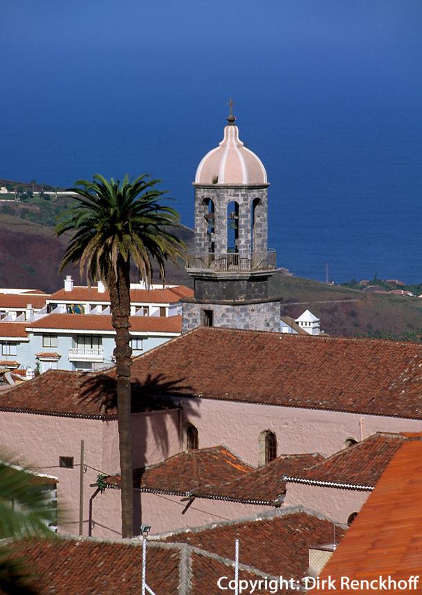Spanien, Kanarische Inseln, Teneriffa,  La Orotava, Blick von Calle Tomas Zerolo