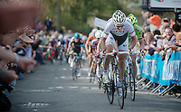 77th Flèche Wallonne 2013..Philippe Gilbert (BEL) leading the chase on Carlos Betancur (COL) with just 200m to go