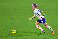 18th February 2021, Orlando, Florida, USA;  United States forward Megan Rapinoe (15) dribbles the ball  during a SheBelieves Cup game between Canada and the United States on February 18, 2021 at Exploria Stadium in Orlando, FL.