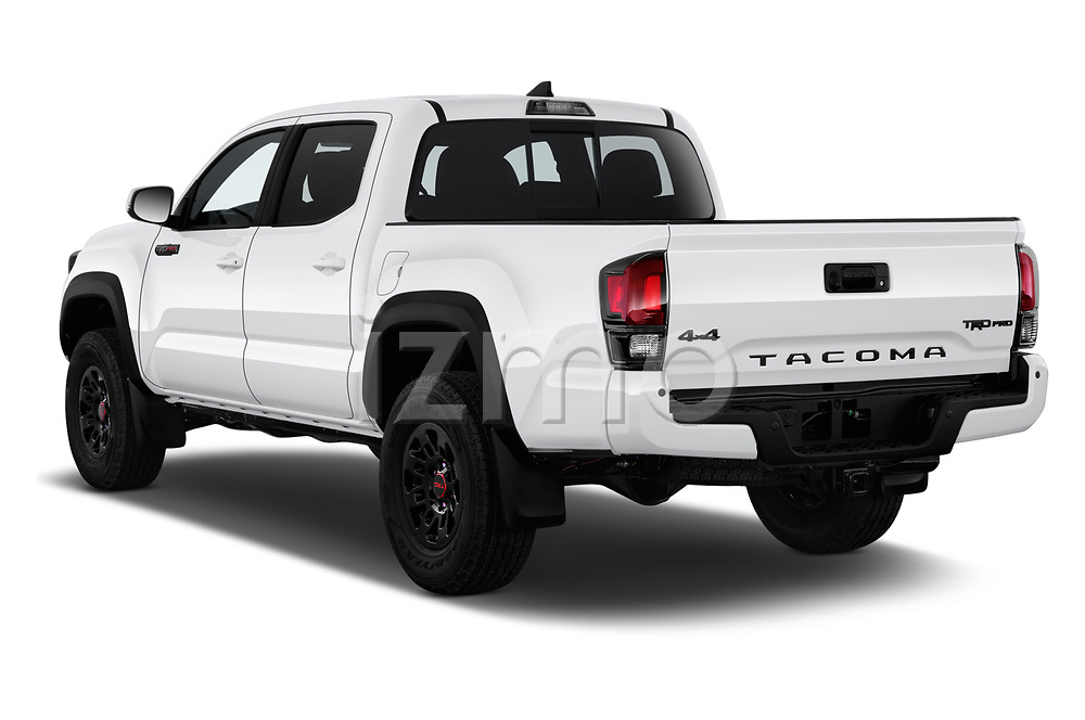 Car pictures of rear three quarter view of a 2019 Toyota Tacoma TRD Pro 4 Door Pick Up angular rear