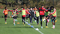 Pictured: Leon Britton (L) back on training Wednesday 05 November 2014<br />