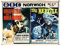 BNPS.co.uk (01202) 558833. <br /> Pic: Ewbank'sAuctions/BNPS<br /> <br /> Picture: This double bill poster for Rasputin the Mad Monk and The Reptile sold for £2,250. <br /> <br /> A selection of classic horror and sci-fi film posters have sold for £85,000.<br /> <br /> The marquee lot was a British quad 30ins by 40ins poster for Forbidden Planet which fetched £12,000, three times its estimate.<br /> <br /> It features the memorable first image of Robby the Robot holding a damsel in distress.<br /> <br /> A poster promoting the Christopher Lee film Dr Terror's House of Horrors (1965) also outperformed expectations, selling for £2,750, while one advertising the first Star Wars film (1977) fetched £4,750.<br /> <br /> The posters, which were consigned by different collectors, sparked a bidding war with Ewbank's Auctions, of Woking, Surrey.