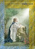 Randy, EASTER RELIGIOUS, OSTERN RELIGIÖS, PASCUA RELIGIOSA, paintings+++++Jesus-Praying-Gethsemene,USRW115,#ER#