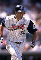 Troy Glaus of the Anaheim Angels during a 2000 season MLB game at Angel Stadium in Anaheim, California. (Larry Goren/Four Seam Images)