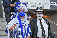 the biggest fans pictured before a female soccer game between  AA Gent Ladies and Eendracht Aalst on the second matchday of the 2020 - 2021 season of Belgian Scooore Womens SuperLeague , friday 4 th of september 2020  in Oostakker , Belgium . PHOTO SPORTPIX.BE | SPP | STIJN AUDOOREN