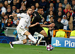 Gabriel Jesus of Manchester City and Real Madrid CF's Dani Carvajal competes for the ball during UEFA Champions League match, round of 16 first leg between Real Madrid and Manchester City at Santiago Bernabeu Stadium in Madrid, Spain. February Wednesday 26, 2020.(ALTERPHOTOS/Manu R.B.)