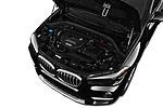 Car stock 2018 BMW X1 xDrive28i 5 Door SUV engine high angle detail view