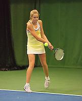 01-12-13,Netherlands, Almere,  National Tennis Center, Tennis, Winter Youth Circuit, Nina Kruijer   <br /> Photo: Henk Koster