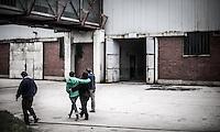 05.06.2013, Potocari ( Srebrenica ) Bosnia Herzegovina<br /> Visitatori al'interno della base delle forze ONU olandesi<br /> L'esercito Serbo nel 1995 ha massacrato a Srebrenica circa 8.000 tra uomini e ragazzi Musulmani, la piu' grande atrocita' commessa in Europa dalla seconda guerra mondiale. <br /> Foto Insidefoto / EXPA/ Juergen Feichter
