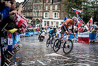 Mathieu van der Poel (NED/Corendon-Circus)<br /> <br /> Elite Men Road Race from Leeds to Harrogate (shortened to 262km)<br /> 2019 UCI Road World Championships Yorkshire (GBR)<br /> <br /> ©kramon