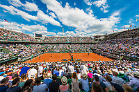 Paris, France, 31 May, 2017, Tennis, French Open, Roland Garros, overall view during the match Haase (NED and Nadal (ESP)<br /> Photo: Henk Koster/tennisimages.com