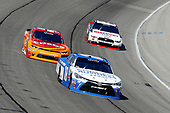 NASCAR XFINITY Series<br /> TheHouse.com 300<br /> Chicagoland Speedway, Joliet, IL USA<br /> Saturday 16 September 2017<br /> Daniel Suarez, Comcast Business / Juniper Toyota Camry, Kyle Larson, ENEOS Chevrolet Camaro and Ryan Blaney, Discount Tire Ford Mustang<br /> World Copyright: Russell LaBounty<br /> LAT Images
