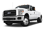Stock pictures of low aggressive front three quarter view of a 2015 Ford F-350 Super Duty XL 4x4 SuperCab 158-In DRW 2 Door pickup Low Aggressive