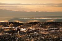 Leaching field at copper mine in Arizona