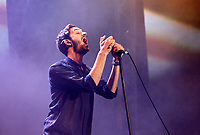 Tom Smith, frontman degli Editors, sul palco del concerto del Primo Maggio promosso da Cgil, Cisl e Uil in occasione della Festa del Lavoro, in piazza San Giovanni a Roma, 1 maggio 2017.<br /> Tom Smith, frontman of the British indie rock band Editors, performs on stage during the May Day free concert on the occasion of the International Workers' Day, in St. John Lateran's Square, Rome, May 1, 2017.<br /> UPDATE IMAGES PRESS/Riccardo De Luca