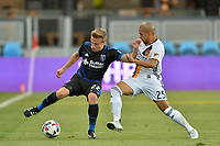 San Jose, CA - Monday July 10, 2017: Tommy Thompson, Rafael Garcia during a U.S. Open Cup quarterfinal match between the San Jose Earthquakes and the Los Angeles Galaxy at Avaya Stadium.