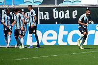 PORTO ALEGRE, RS, 12.09.2021 - GRÊMIO - CEARÁ - O atacante Diego Souza, da equipe do Grêmio, comemora o seu gol, na Partida entre Grêmio e Ceará, válida pela 20 a. rodada do Campeonato Brasileiro 2021, no estádio Arena do Grêmio, em Porto Alegre, na manhã deste domingo (12).