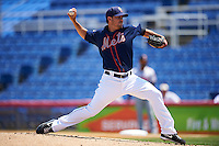 Binghamton Mets starting pitcher Tyler Pill (20) delivers a pitch during a game against the Richmond Flying Squirrels on June 26, 2016 at NYSEG Stadium in Binghamton, New York.  Binghamton defeated Richmond 7-2.  (Mike Janes/Four Seam Images)