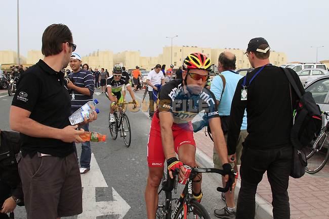 BMC Racing Team rider Belgian Champion Philippe Gilbert (BEL) crosses the finish line of Stage 3 of the 2012 Tour of Qatar running 146.5km from Dukhan Souq, Dukhan to Al Gharafa, Qatar. 7th February 2012.<br /> (Photo Eoin Clarke/Newsfile)