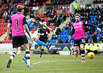 St Johnstone v Dundee…11.03.17     SPFL    McDiarmid Park<br />Richie Foster shoots for goal<br />Picture by Graeme Hart.<br />Copyright Perthshire Picture Agency<br />Tel: 01738 623350  Mobile: 07990 594431