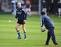 21st November 2020; Recreation Ground, Bath, Somerset, England; English Premiership Rugby, Bath versus Newcastle Falcons; Rhys Priestland of Bath warms up