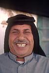 Marsh Arabs. Southern Iraq. Circa 1985. Happy laughing Marsh Arab man.