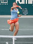 Sara Errani (ITA), loses to Belinda Bencic (SUI) 4-6, 6-2, 6-1at the Family Circle Cup in Charleston, South Carolina on April 4, 2014.