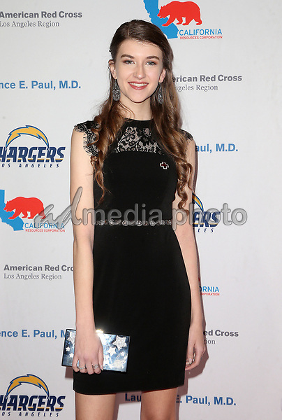 09 March 2018 - Los Angeles, California - Casey Burke. American Red Cross Annual Humanitarian Celebration Honoring The LA Chargers at the Skirball Cultural Center. Photo Credit: F. Sadou/AdMedia