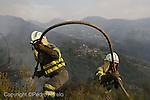 Brigadistas en un Incendio en O Courel. Reserva protegida