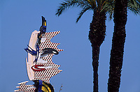 """""""Barcelona Head"""" Plastik von Roy Lichtenstein, Barcelona, Spanien"""