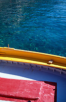 Colorful boat, close up