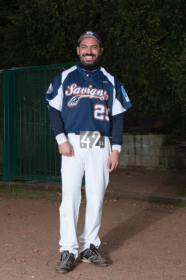 23 October 2010: Fabien Morel of Savigny is seen during Savigny 8-7 win (in 12 innings) over Rouen, during game 3 of the French championship finals, in Rouen, France.
