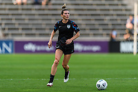 BRIDGEVIEW, IL - JULY 18: Arin Wright #3 of the Chicago Red Stars dribbles the ball during a game between OL Reign and Chicago Red Stars at SeatGeek Stadium on July 18, 2021 in Bridgeview, Illinois.