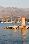 Outer roads (anchorage), Calvi, Northwest coast of Corsica, France, Mediterranean Coast, Coastal towns in Corsica,