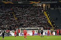 Eintracht Fans feiern den 4:1 Sieg - 20.02.2020: Eintracht Frankfurt vs. RB Salzburg, UEFA Europa League, Hinspiel Round of 32, Commerzbank Arena DISCLAIMER: DFL regulations prohibit any use of photographs as image sequences and/or quasi-video.