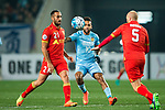 Jiangsu FC Forward Alex Teixeira (C) in action against Adelaide United Defender Tarek Elrich (L) during the AFC Champions League 2017 Group H match between Jiangsu FC (CHN) vs Adelaide United (AUS) at the Nanjing Olympics Sports Center on 01 March 2017 in Nanjing, China. Photo by Marcio Rodrigo Machado / Power Sport Images