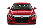Car photography straight front view of a 2019 Honda Accord LX 4 Door Sedan