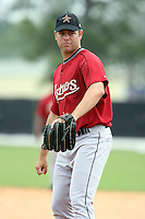 March 16th 2008:  Josh Miller of the Houston Astros minor league system during Spring Training at Osceola County Complex in Kissimmee, FL.  Photo by:  Mike Janes/Four Seam Images