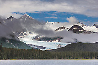 Billings Glacier, Passage Canal, Chugach National Forest, Chugach mountains, Prince William Sound, Alaska.