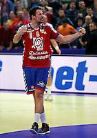 Marko Vujin of Serbia in celebrate during men`s EHF EURO 2012 championship semifinal handball game between Serbia and Croatia in Belgrade, Serbia, Friday, January 27, 2011.  (photo: Pedja Milosavljevic / thepedja@gmail.com / +381641260959)